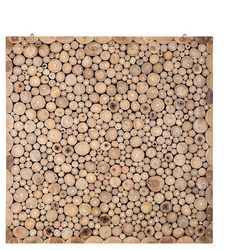 Mozaika - ozdoba na ścianę - dekoracja ścienna - 82x82 cm - TWIG
