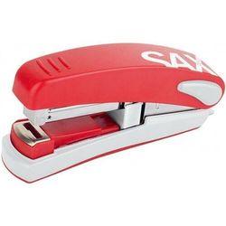 Zszywacz SAXDesign 539, zszywa do 30 kartek, na płasko, czerwony