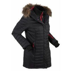 Długa kurtka outdoorowa pikowana bonprix Długa kurtka outdoor pik czar