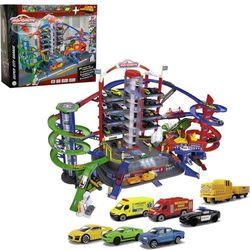 Majorette Garaż Super City 7 poziomów + 6 samochodów i lokomotywa, efekty dźwiękowe i świetlne