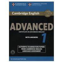 Książki medyczne, Cambridge English Advanced 1. Podręcznik z Kluczem + CD (opr. miękka)