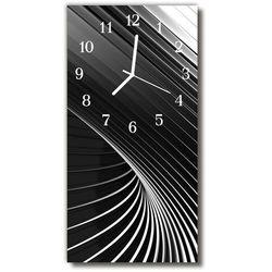 Zegar Szklany Pionowy Sztuka Abstrakcja Czarno-biały