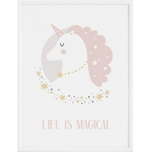 Plakaty, Plakat Lady Unicorn 21 x 30 cm