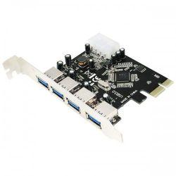 LogiLink Karta PCI Express 4 x USB3.0