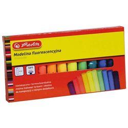 Modelina szkolna fluo 10 kolorów 7,5cm, HERLITZ