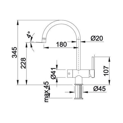 Baterie do kuchni, Bateria Blanco Filo 517178