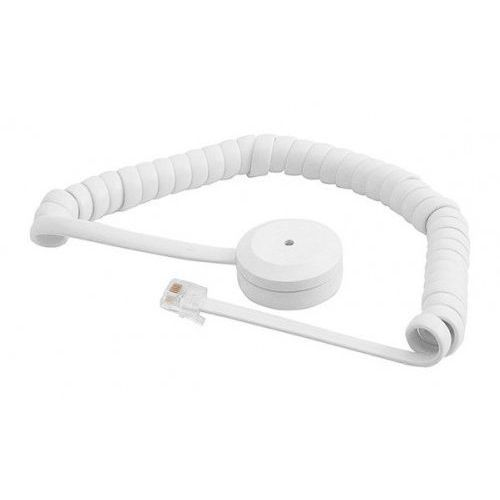 Czujki alarmowe, GD 330-S Czujka zbicia szyby z białym spiralnym kablem Alarmtech