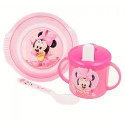 Minnie Mouse - Zestaw naczyń do mikrofali (miseczka, łyżeczka + kubek niekapek)