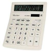 Kalkulatory, KAV VC-444W Kalkulator biurowy VECTOR DIGITAL