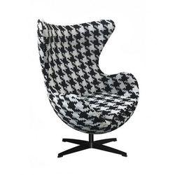 Fotel Jajo pepitka duża insp. proj. Egg Chair - podstawa czarna