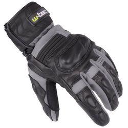 Skórzane/tekstylne rękawice motocyklowe na zimę W-TEC NF-4070, Szaro-czarny, XXL