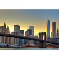 Fototapety, Fototapeta Brooklyn Bridge At Sunset 148