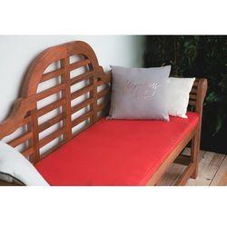 Ławka ogrodowa drewniana 180 cm poducha czerwona TOSCANA Marlboro