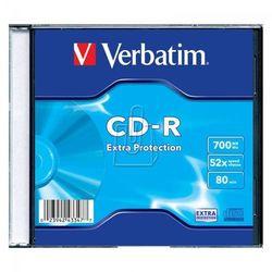 Płyta Verbatim CD-R 700MB 52X Extra Protection Slim Case 1
