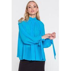 Szyfonowa bluzka w kolorze turkusowym Livia - Tova