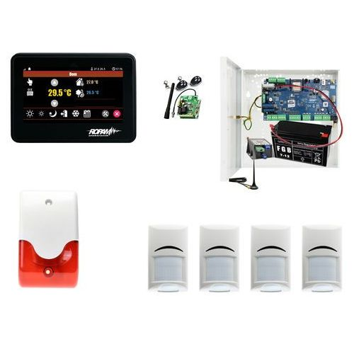 Sygnalizatory, Domowy system alarmowy Ropam NeoGSM-IP-PS + 4xBosch+ TPR-4B + Sygnalizator