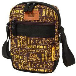 CAT Caterpillar RODNEY torba na ramię / saszetka na mini tablet / brązowa - Brown/Gold