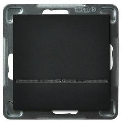 Łącznik kontrolny z podświetleniem Czarny metalik - ŁP-12RS/m/33 Sonata