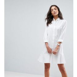 ASOS TALL Peplum Mini Shirt Dress - White