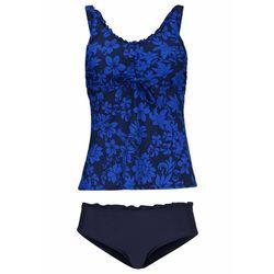 Bikini na fiszbinach (2 części) bonprix niebiesko-biały w paski