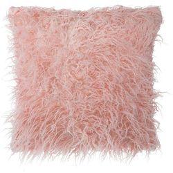 Poduszka dekoracyjna futro ekologiczne różowa 45 x 45 cm
