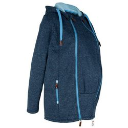 Bluza rozpinana z polaru ciążowa z wstawką na nosidełko bonprix ciemnoniebiesko-niebieski melanż