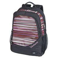 Tornistry i plecaki szkolne, Plecak Venturio czarno-różowy