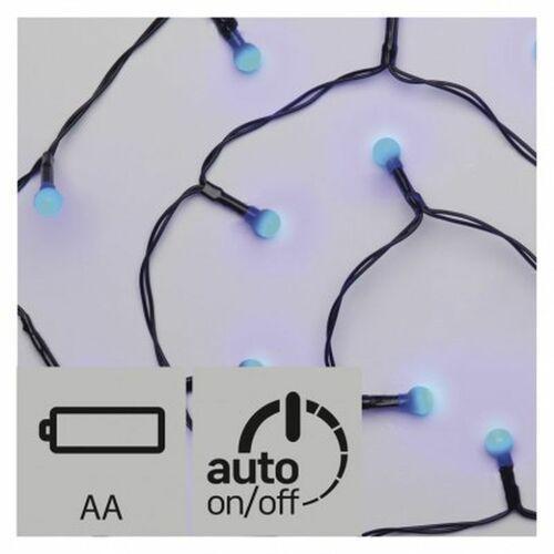 Ozdoby świąteczne, Lampki choinkowe EMOS 20 LED kulki 1.5m 2x AA IP20 Timer Niebieski ZY1947
