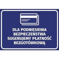Naklejka dla podniesienia bezpieczeństwa sugerujemy płatność bezgotówkową