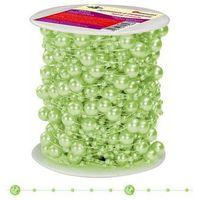 Pozostałe artykuły szkolne, Girlanda perłowa sznurek z perełkami zielony 20m - zielony / perłowy