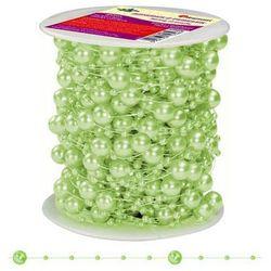 Girlanda perłowa sznurek z perełkami zielony 20m - zielony / perłowy