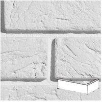 Kamień, PŁYTKA CEGŁOPODOBNA Z FUGĄ PARMA 1 WHITE NAROŻNIK OPAKOWANIE 0,5M2 FIRMY STEGU