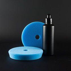 Herrenfahrt Cutting Pad Blue - niebieska gąbka polerska 135mm