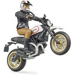 Motocykl Srambler Ducati Desert Sled z figurką kierowcy Bruder 63051
