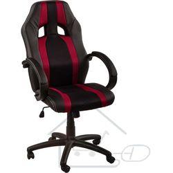 Fotel obrotowy dla gracza, RACEMASTER, bordowe pasy