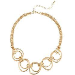 Łańcuszek z pierścieniami bonprix złoty kolor