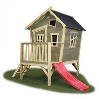 Domki i namioty dla dzieci, Domek cedrowy dla dzieci EXIT CROOKY 300 /szary/
