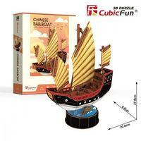 Puzzle, Puzzle 3D Żaglowiec Chinese Sailboat 62 elementy