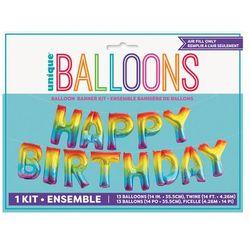 Balon foliowy ombre Happy Birthday 426x35 cm.