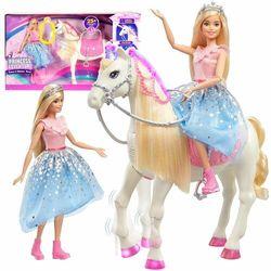BARBIE Przygody Księżniczek Lalka księżniczka z koniem GML79 - Barbie z koniem