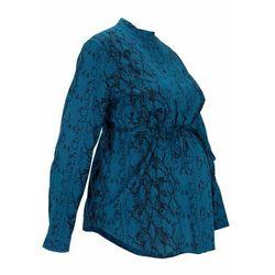 Bluzka ciążowa i do karmienia piersią bonprix niebieskozielony we wzór skóry węża