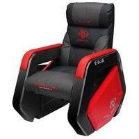 Fotele dla graczy, Sofa Gaming E-BLUE Auroza - szaro - czerwony