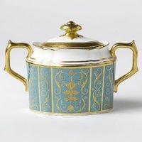 Cukiernice, Royal Crown Derby Regency Turquoise Cukiernica z Pokrywką