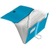 Teczki, Teczka rozkładana organizer A4 Easy Orga HERLITZ - transparentny niebieski