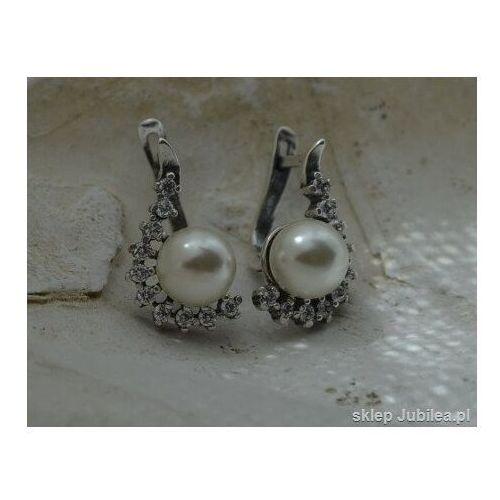 Kolczyki, SENTOSA - srebrne kolczyki z perłą i cyrkoniami