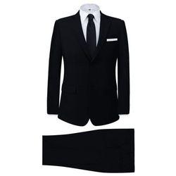 vidaXL 2-częściowy garnitur biznesowy męski czarny rozmiar 52 Darmowa wysyłka i zwroty