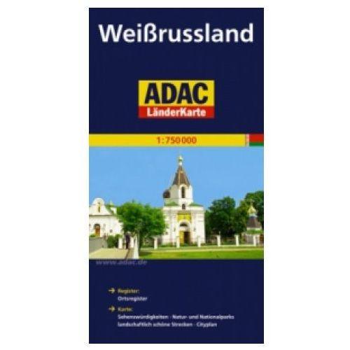 Mapy i atlasy turystyczne, Weissrussland. ADAC LanderKarte 1:750 000 (opr. broszurowa)