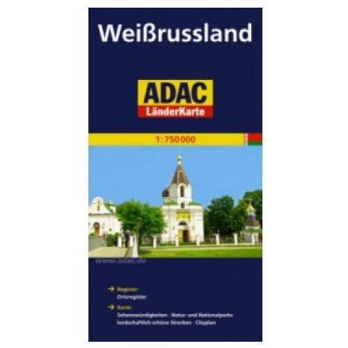 Mapy i atlasy turystyczne, Weissrussland. ADAC LanderKarte 1:750 000 (opr. miękka)