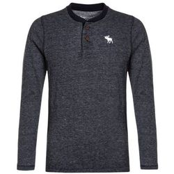 Abercrombie & Fitch CORE COZY HENLEY Sweter navy