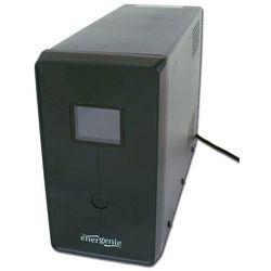 UPS Gembird ENERGENIE Line-Interactive,1200VA,3xIEC,2xSchuko 230V,USB,RJ11,LCD (EG-UPS-033) Darmowy odbiór w 21 miastach!